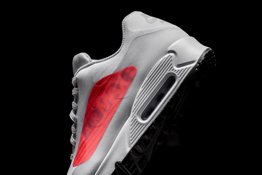 basket Nike Air Max 90 NS GPX Big Logo Neutral Infrared Grey AJ7183 001 (2)
