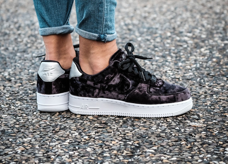 air force 1 noir velour