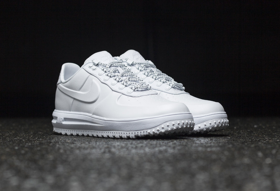 Nike Lunar Force 1 Low Duckboot Ibex 'Triple White'