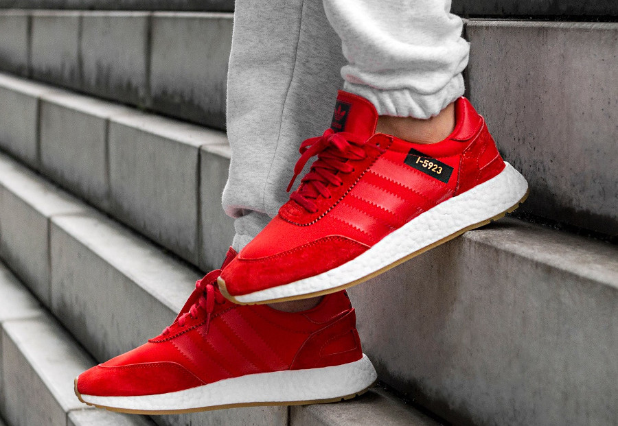 Chaussure Adidas I-5923 Iniki Runner Rouge Core Red