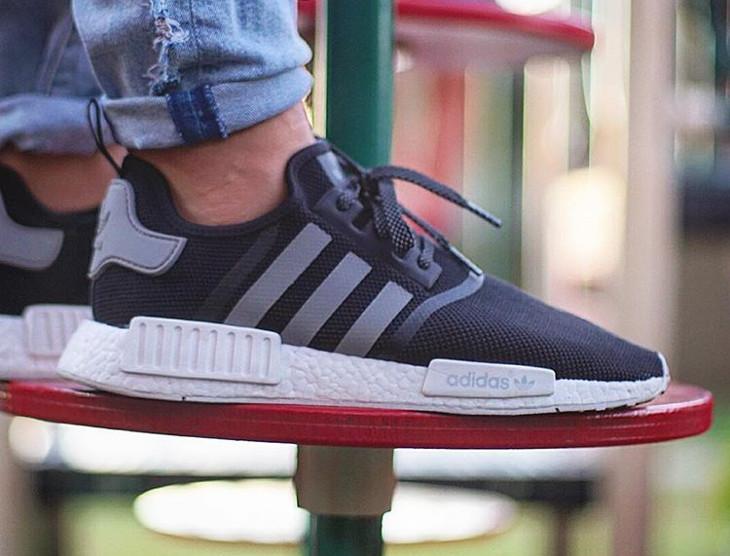 Adidas NMD R1 Black Charcoal - @kicksoophilthy