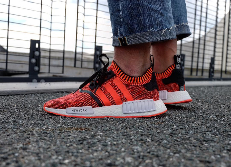 Adidas NMD R1 PK NYC Red Apple - @eartothestreet