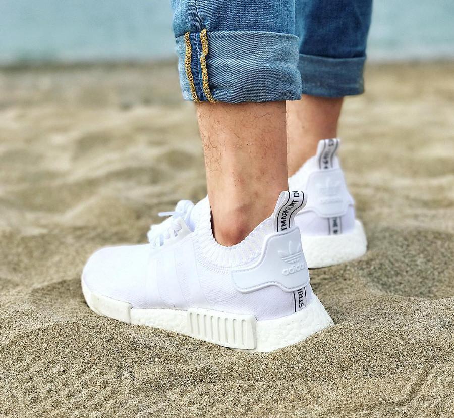 Adidas NMD R1 PK triple White - @jeanoreggs
