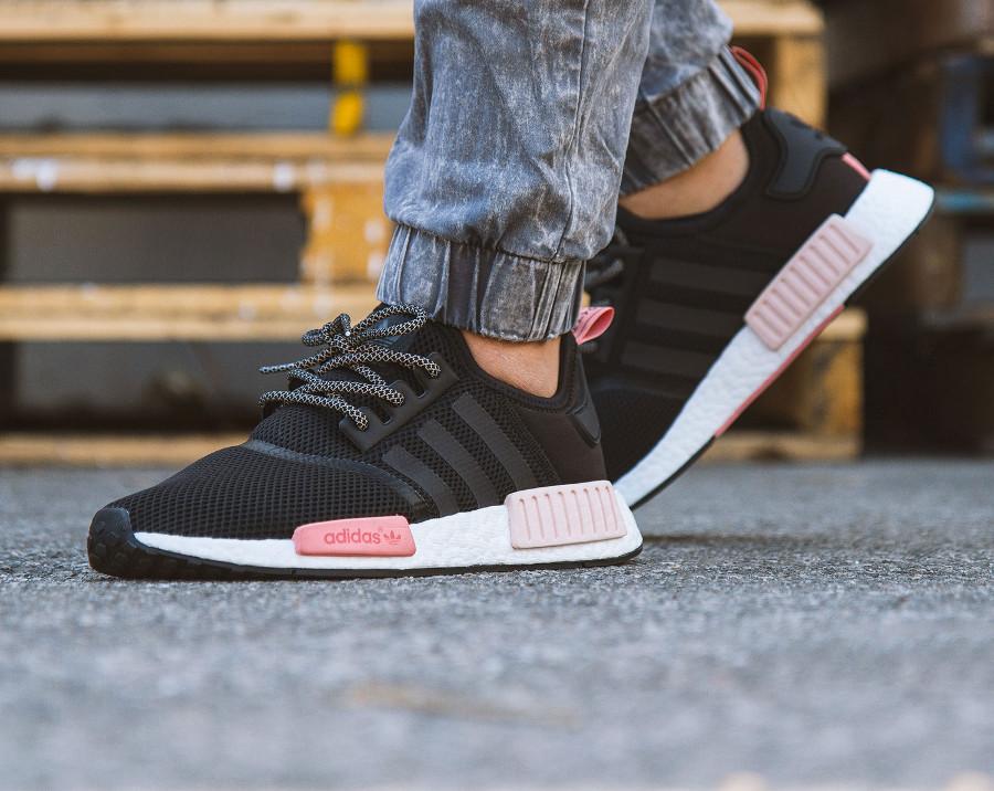 Adidas NMD R1 W Black Peach Pink - @aj562