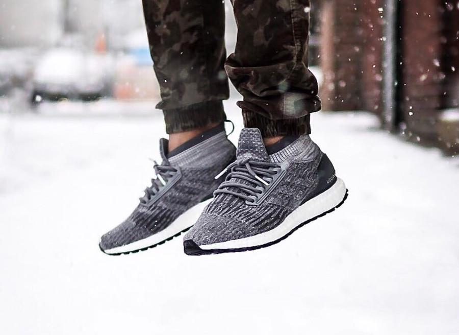 Adidas Ultra Boost ATR on foot sur la neige - @jeprocks