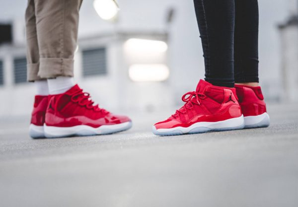 Air Jordan 11 XI Rouge Gym Red Win Like 96 Chicago homme et femme