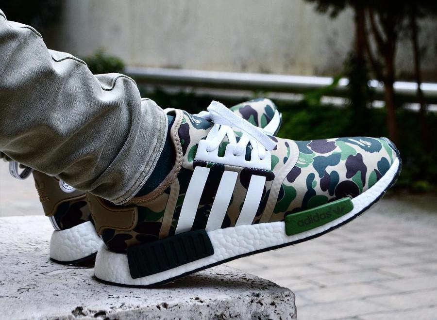 Bape x Adidas NMD R1 Camo Green - @8_november