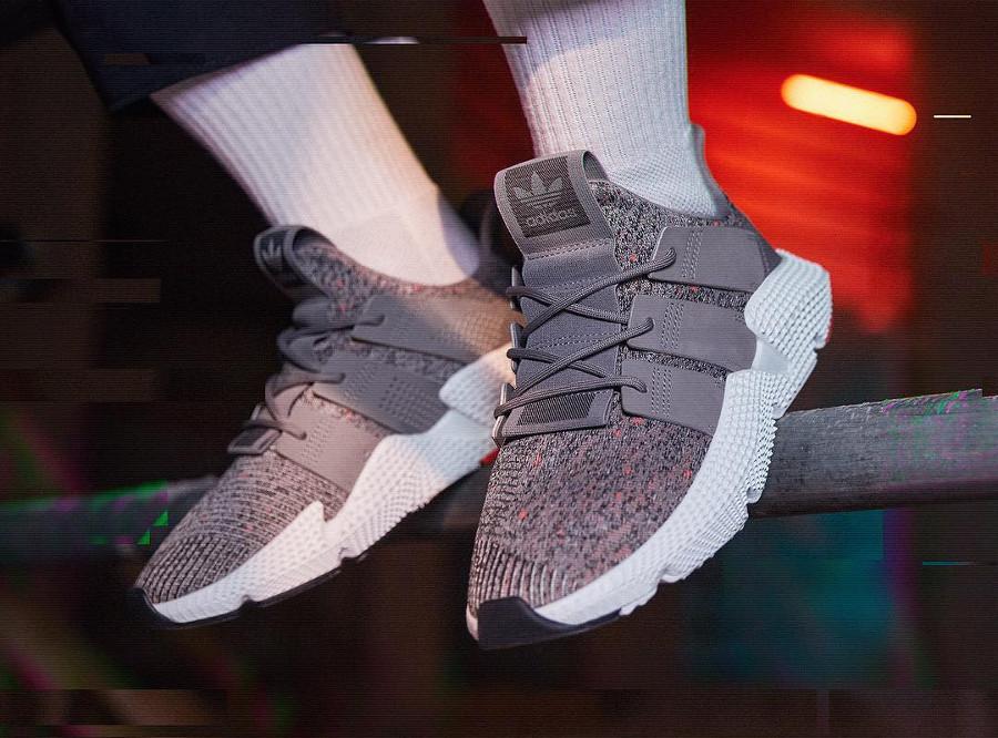 Chaussure Adidas Originals Prophere Grise Grey Three on feet