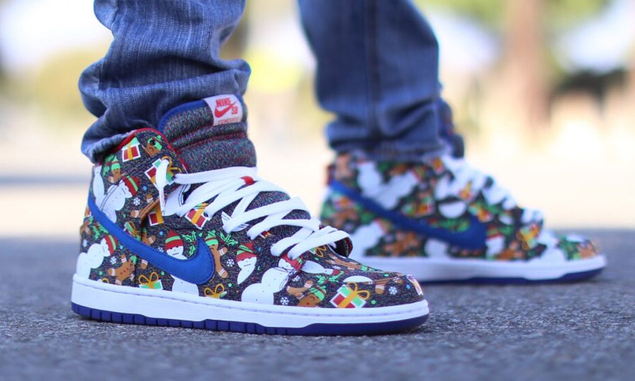 Chaussure Concepts x Nike Dunk High SB Ugly Sweater 2017 (Multicolor Knit)