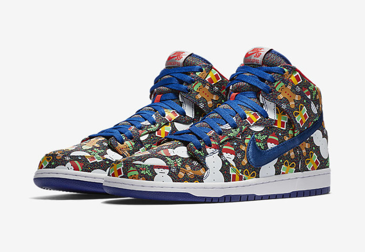 Concepts x Nike Dunk High SB Ugly Sweater 2017