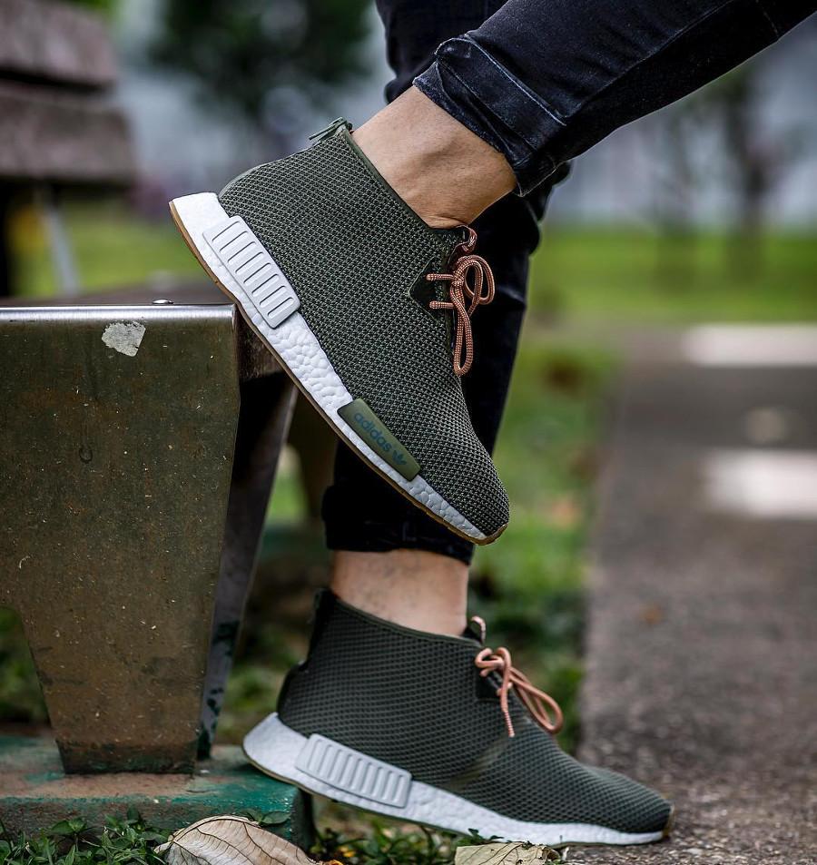 Endclothing x Adidas Consortium NMD C1 Chukka Sahara Olive Gum - @jeyr3