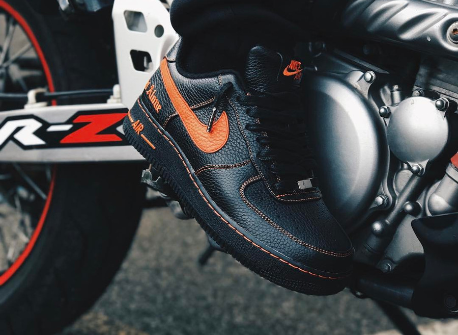 Nike Air Force 1 Low Vlone Black Orange - @samboazmag
