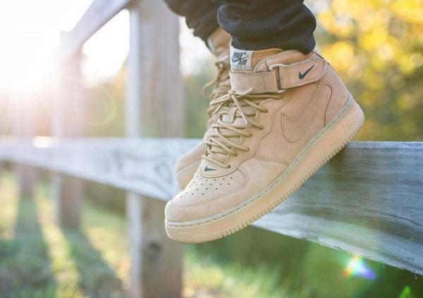 Nike Air Force 1 Mid Flax Wheat 2014 - @whitecement