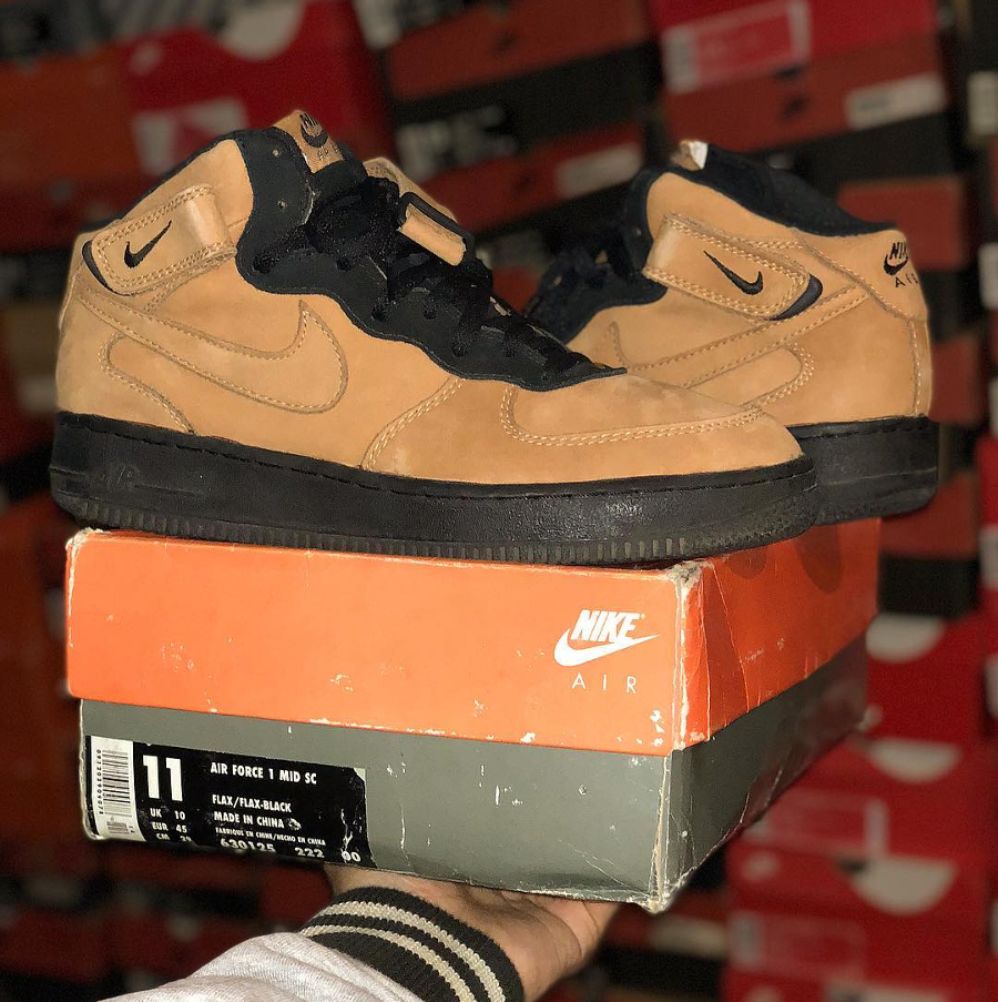 Nike Air Force 1 Mid SC Flax 1995 - @pgknows