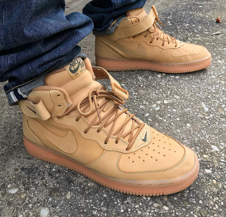 Nike Air Force 1 Mid Wheat 2001 - @pgknows