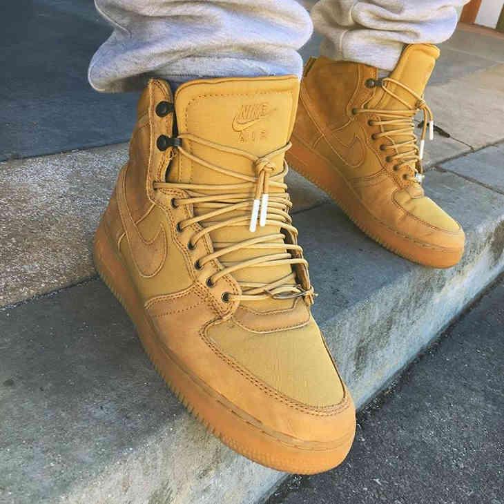 Nike Air Force 1 XXX Military Boot Wheat Golden Harvest - @afrokix