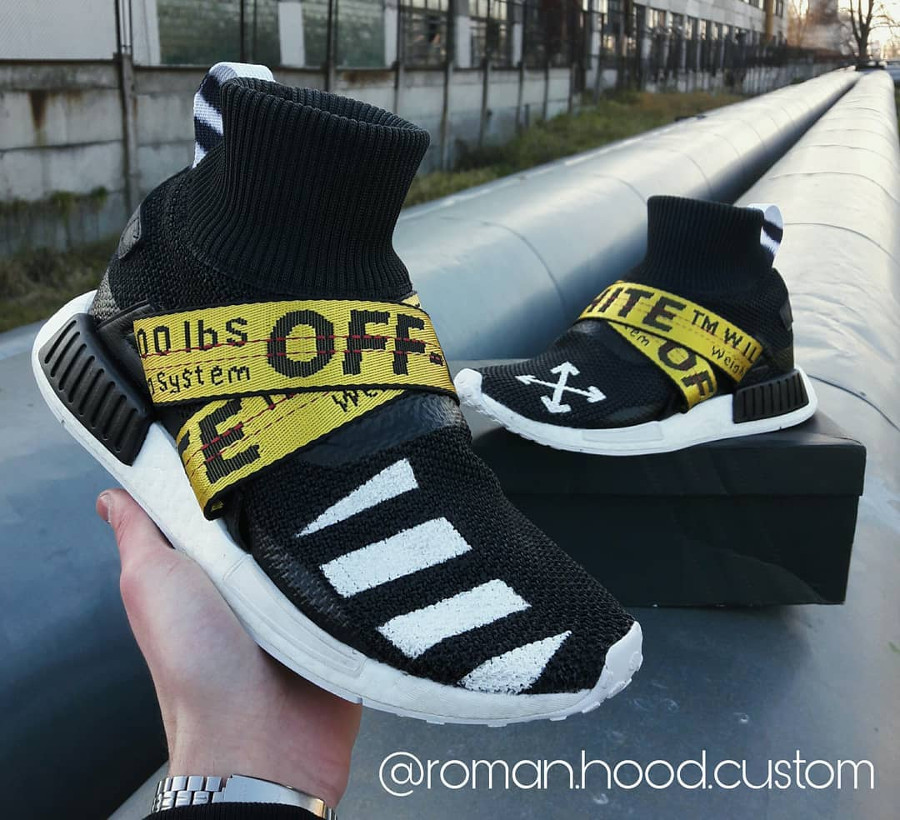 Off-White-x-Adidas-NMD-XR1-Winter-customisée
