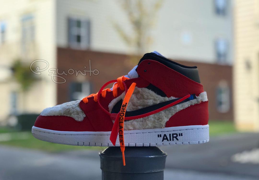 Off White x Air Jordan 1 Mid customisée