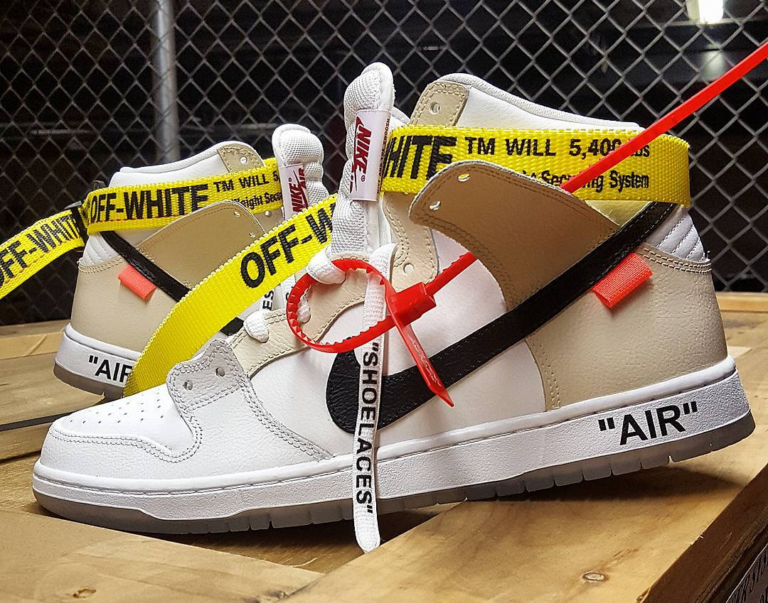 Off White x Nike Dunk High SB personnalisée