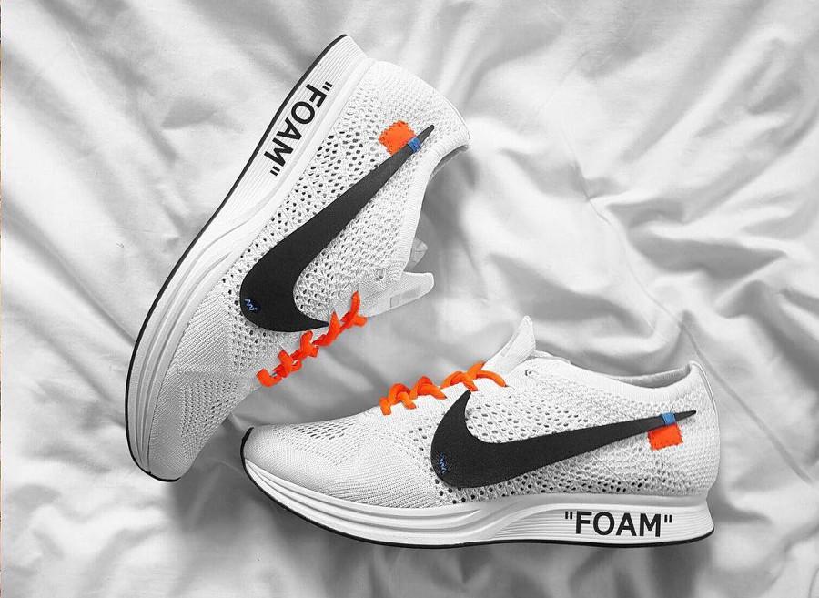 Off White x Nike Flyknit Racer Foam