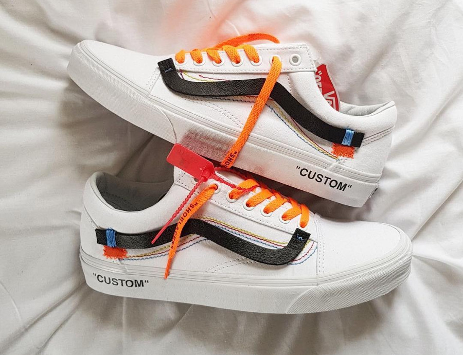 Off White x Vans Old Skool White