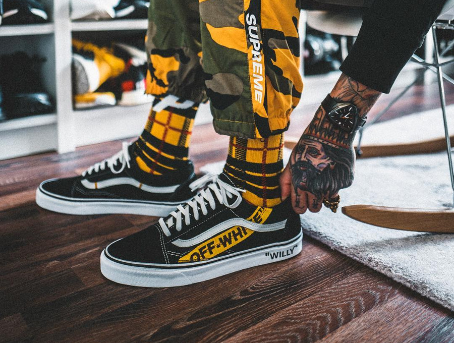 Off White x Vans Old Skool Willy personnalisée