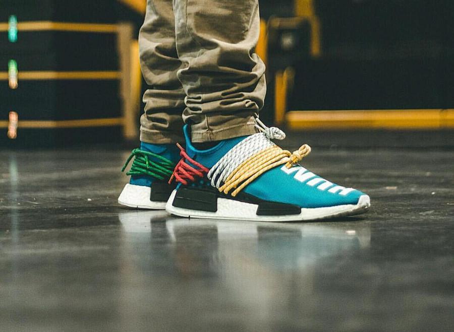 Pharrell Williams x Adidas NMD HU Human Being Sharp Blue - @johnnyskicks_