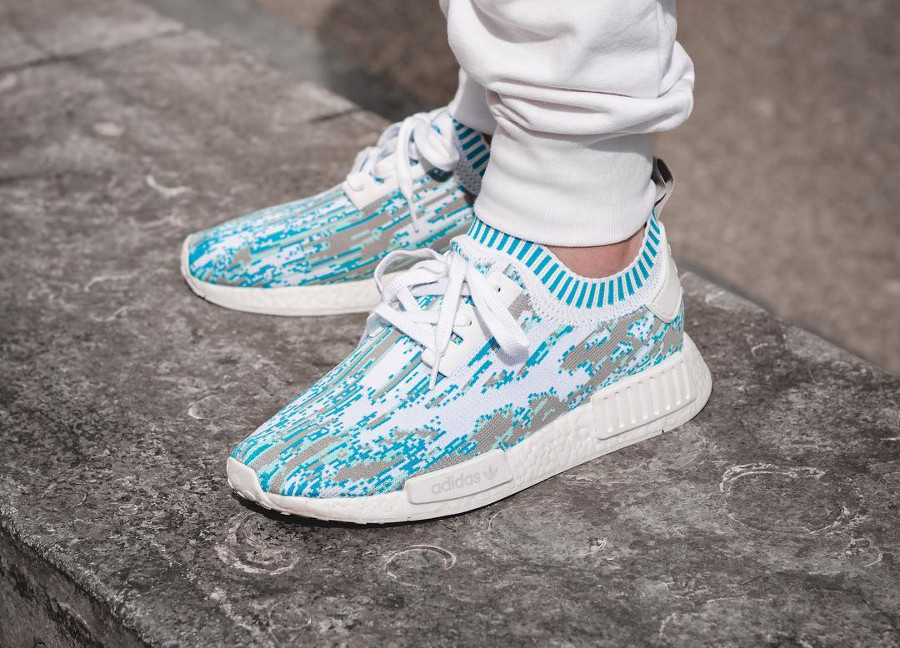 Sneakersnstuff x Adidas NMD R1 PK Datamosh Clear Aqua - @morprime