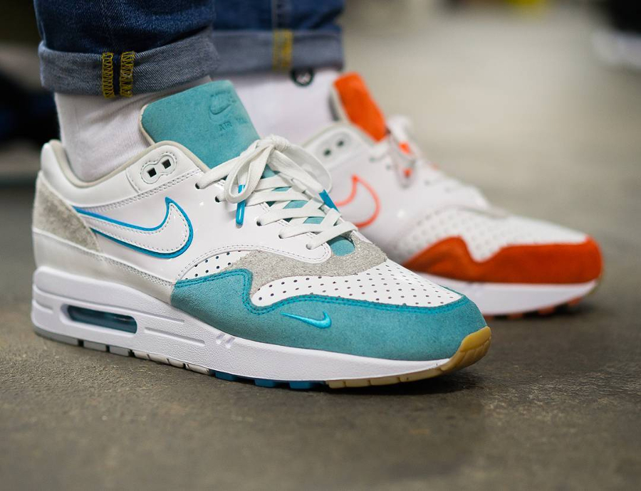 Solebox Nike Air Max 1 Bespoke Toothpaste Mint & Orange