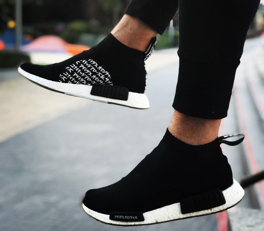 adidas nmd city sock primeknit with miki type lettering