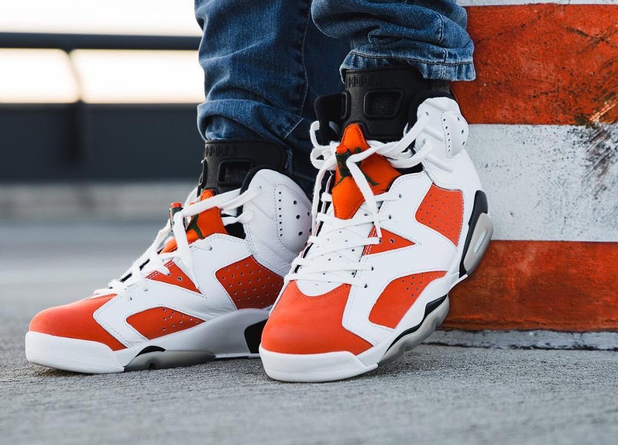 avis chaussure Air Jordan 6 Retro Like Mike Gatorade Carmine on feet (2)