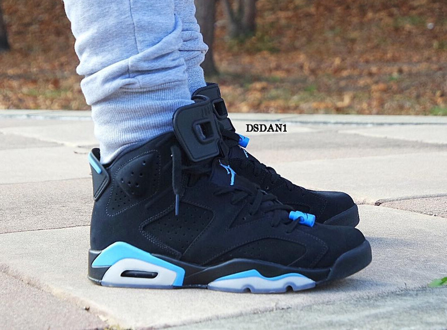 Chaussure Air Jordan 6 Retro UNC Black University Blue