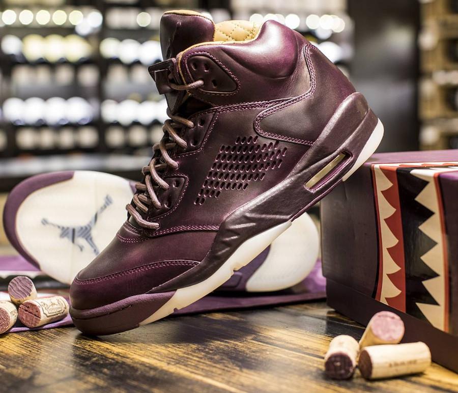 chaussure-air-jordan-v-prm-bordeaux-element-gold-requin-881432 612 (3)