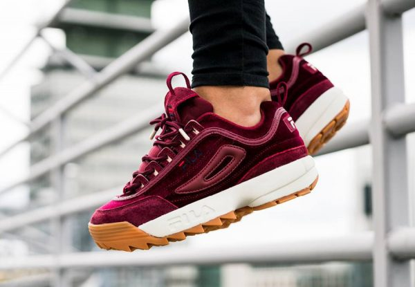 Fila Disruptor Low 'Velvet' Burgundy
