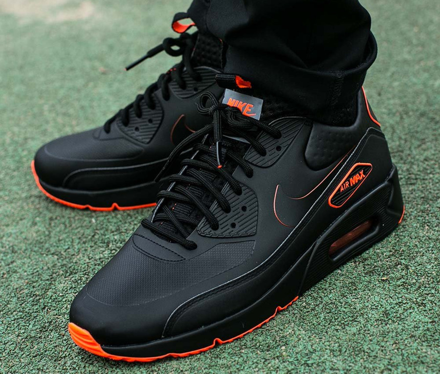nike air max 90 ultra mid winter se nero orange