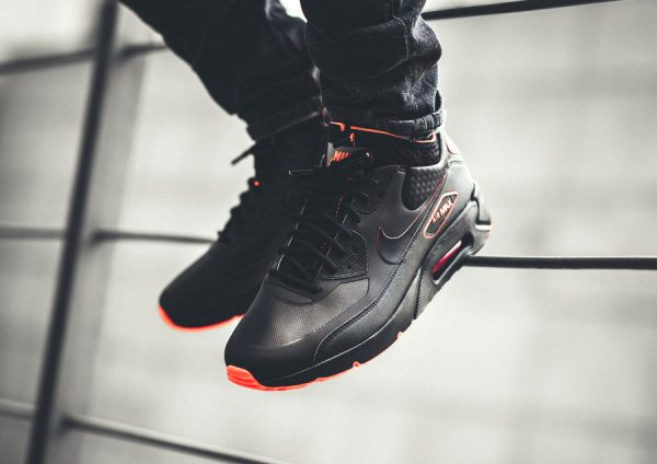 8456951875 Avis] Nike Air Max 90 Ultra Mid Winter SE Noire 'Black Bright Crimson'