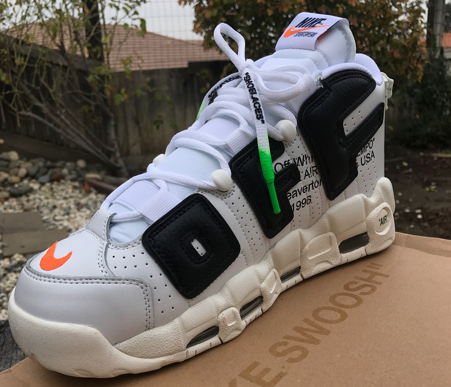 fausse off white nike air more uptempo blanche white (2)