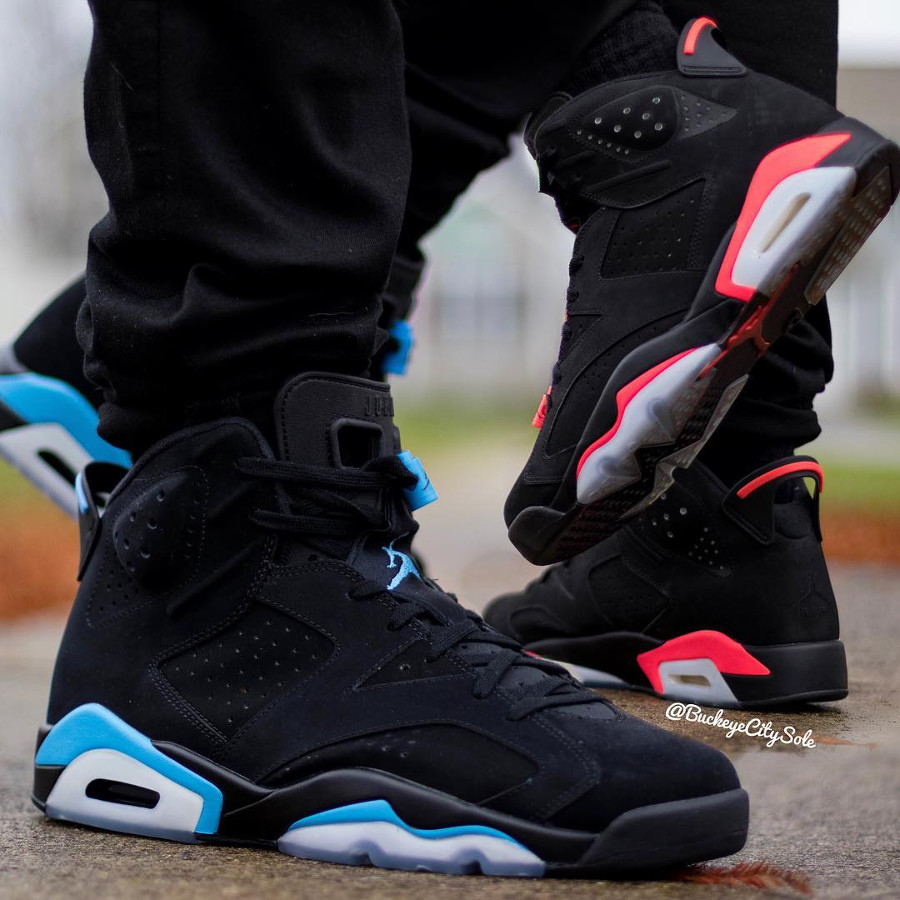 Air Jordan 6 Retro UNC vs Air Jordan 6 Infrared
