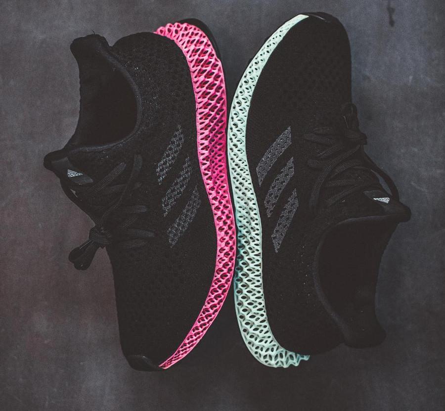 Adidas Futurecraft 4D semelle rose et verte