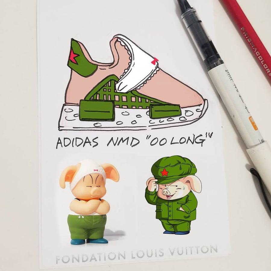 Adidas NMD HU Oolong - @lookrichasfuuu