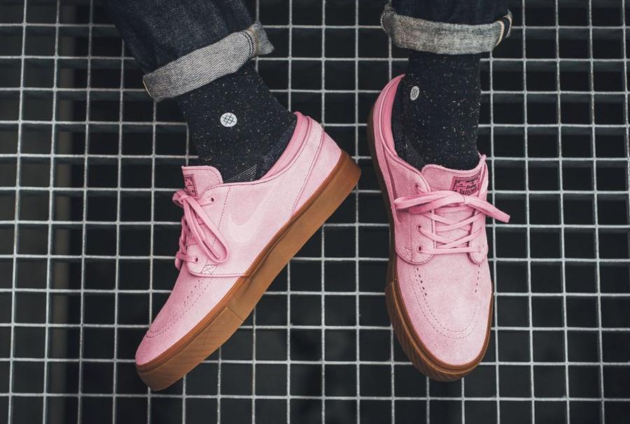 Basket Nike SB Janoski Suede Elemental Pink Brown (2)