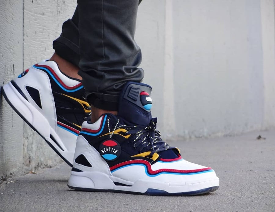 Beastin x Reebok Pump Omni Lite Quiet Storm on feet - @butimnotasneakerhead