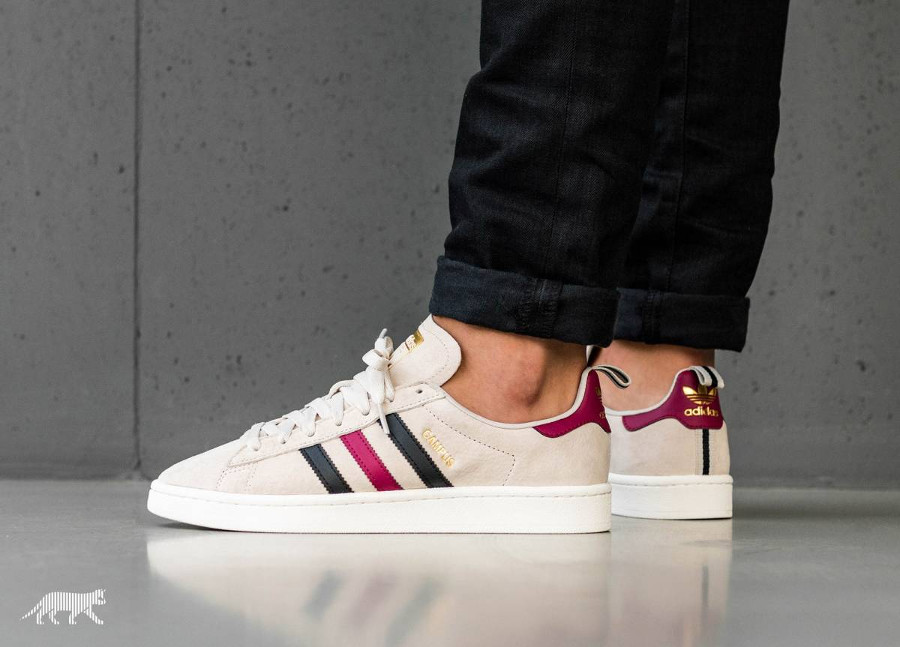 Chaussure Adidas Campus 80's Suede Beige Mystery Ruby