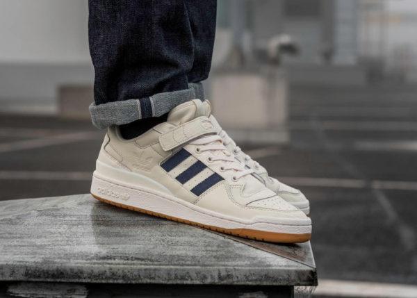 L'acheter Adidas Blue 'chalk Forum Basse Lo White Gum'Pourquoi fYb76gy