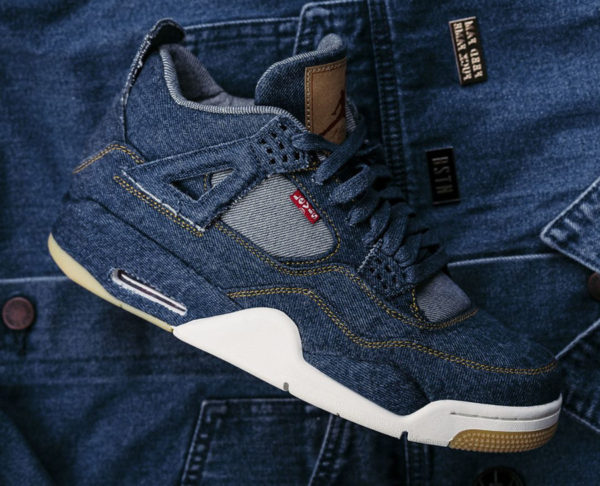 huge selection of ff9b4 fb14a Chaussure Air Jordan 4 Retro Levis Indigo Blue Denim