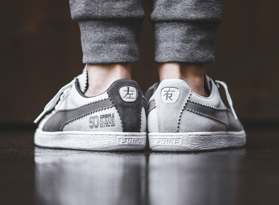 Chaussure Michael Lau x Puma Suede 50 grise Sample Suede
