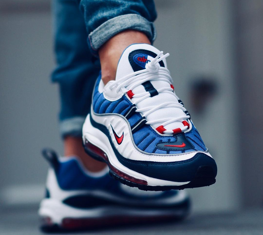 timeless design 409b0 488c1 Chaussure Nike Air Max 98 OG Gundam 2018 on feet (3)