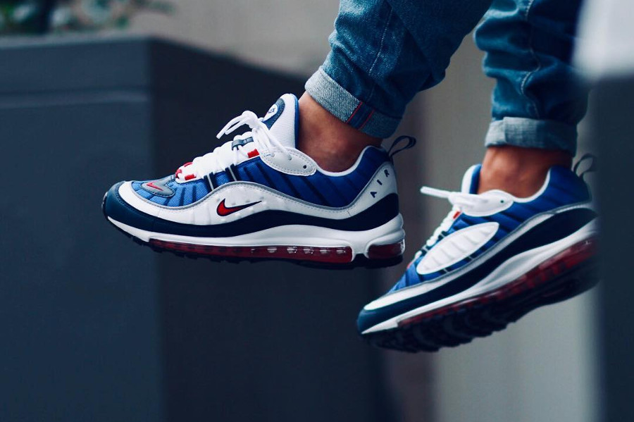Chaussure Nike Air Max 98 OG Gundam 2018 on feet