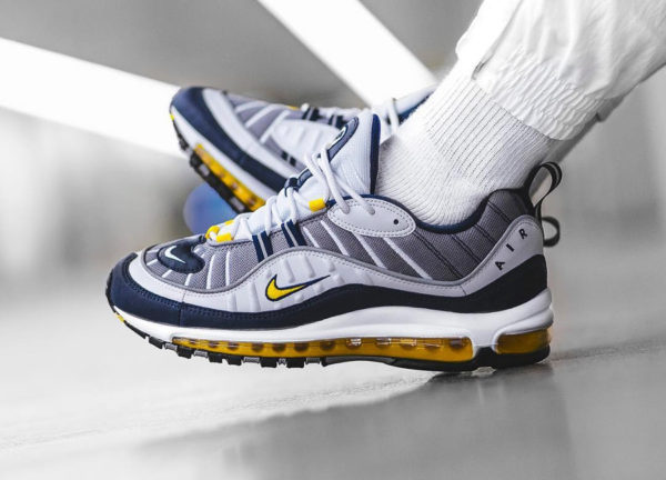 Chaussure Nike Air Max 98 OG Tour Yellow Cement Citron 2018