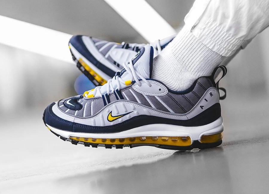 Nike Air Max 98 OG 'Michigan' Tour Yellow